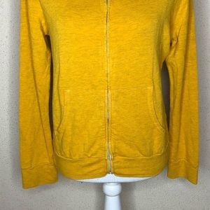 Monrow Jackets & Coats - Monrow Classic Jacket Yellow Zip Supersoft Hoodie